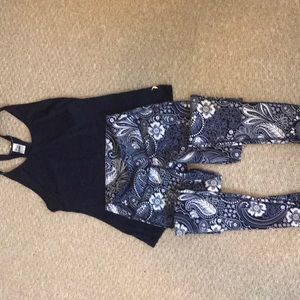Athletic top and leggings. Never been worn